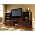 Cherry Entertainment Center TV Stand 50 2 media towers bookcase storage wood NEW