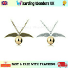 Harry Potter Golden Snitch Quidditch Necklace Charm Silver Bronze Gift Bag