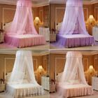 Fashion Princess Round Bed Canopy Mosquito Net Netting Bedroom Lace Curtains image