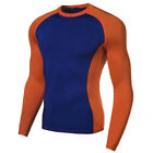 Mens Sports Exercise Compression Shirt Workout Base Layers Running Tights New