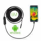 2M/5M 7/8.5MM Android Endoscope Snake Borescope Waterproof USB Inspection Camera