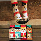 1Pair Winter Christmas series Colorful 100% Cotton Socks Unisex