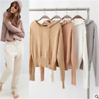 Fashion Women Casual Loose Knitted Tops Blouse Sweater