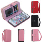 Women Lady PU Leather Purse Handbag Case Card Holder Flip Cover Removable