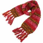 Wool Scarf Chunky Knit Tassels Long Knitted Warm Winter Colourful Shawl