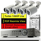 CCTV Full HD DVR Email HDMI 1080P 2.4MP Day Night Outdoor Camera Home System Kit