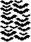 20 Halloween Bat Stickers, lots of colours, decoration, party, fun !