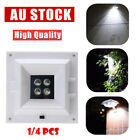 4 LED Solar Wall Light Outdoor Square Lamp Fence Garden Security Waterproof Lamp