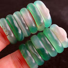 China Natural stone Light green Agate jade Ring size 6.5 7 8 . Diameter 17-18mm