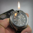 Military Cigarette Cigar Lighter Watch Men Quartz Refillable Wrist Watches New
