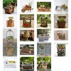 Assorted Wooden Pot Flower Succulents Planter Garden Outdoor Craft Decor