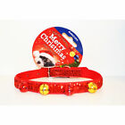 Ancol Christmas Party Dog Collar Xmas Gift Toy Festive Red Free UK P&P