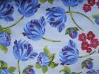 Floribella's Blue Tulips on cream 100% cotton fabric from Riley Blake