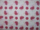 Raspberry Parlour Small Flowers on Cream 100% cotton fabric from Riley Blake