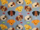 Dog Heads on Blue from Riley Blake's Rover collection of 100% cotton fabric