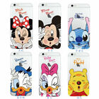 Disney Cartoon Transparent TPU Rubber Soft Case Cover For iPhone 6 6S 7 8 Plus