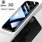 For iPhone X 10 3D Full Cover Front + Back Tempered Glass Screen Protective Film