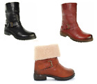 Ladies Adesso Ginny Fold Down Faux Fur Boots in 3 Colours