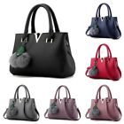 Women Lady Hairball Modern Messenger Shoulder Handbag Crossbody Totes Bag PU
