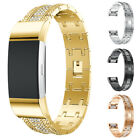 Genuine Metal Band Wrist Watch Strap Bracelet For Fitbit Charge 2