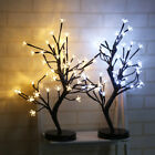48 LED Cherry Blossom Desk Bonsai Tree Light Table Twig Lamp Home Party Lights