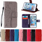 Embossed Flip Card Stand Case Wallet Cover For iPhone SE 6S 7 8 Plus X Touch 56