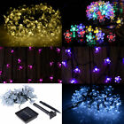 Solar Power Waterproof Fairy String Light Outdoor Christmas Festival Party Decor