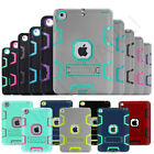 New Shockproof Heavy Duty Hard Kickstand Rubber Case Cover For Ipad Mini Air Pro