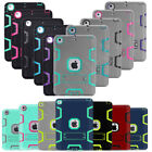 For Apple iPad Hybrid Rubber Shock Proof Heavy Duty Hard Case Stand Cover Skin
