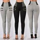 Women High Waist Stretch Skinny Leggings Long Pencil Pants Trousers Jeggings TOP