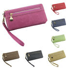 Fashion PU Leather Card Holder Long Clutch Zip Wallet  Phone Case Handbag Purse
