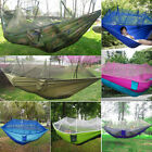 Portable Indoor Outdoor Camping Parachute Fabric Mosquito Net Hammock US STOCK