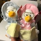 Mother Goose Hand Held Talking Plush Toy in Blue or Pink Cuddle Barn CB42885