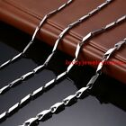 1/2/2.5/3/4/5/6mm Fashion Womens Mens Stainless Steel Stick Link Chain Necklace