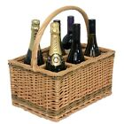Wicker Wine 2 4 6 Compartment Willow Bottle Carrier Champagne Gift Holder Basket