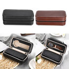 2 Grids PU Leather Travel Watch Storage Case Zipper Wristwatch Box USTOCK