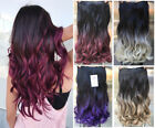 Half Head One Piece, Full Head Ombre Clip in Hair Extensions, Ponytail