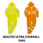 Portwest S495 Sealtex Ultra Mens Work Coverall Hi Vis Waterproof Rain Coverall
