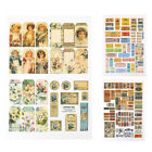 Diy Waterproof Vintage Stamp Travelling Sticky Scrapbooking Diary StickersLACA
