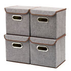 4-Pack Folding Storage bins boxes for home office closet Holidays Toys kids