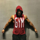 USA Men Gym Clothing Bodybuilding Stringer Hoodie Tank Top Muscle hooded Shirt