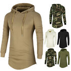 Fashion Men's Slim Fit Hoodies Hooded Long Sleeve Muscle Tee T-shirt Tops Blouse