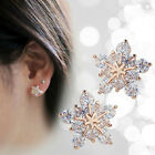 Fashion Women Girl Crystal Rhinestone Ear Stud Snow Flower Earrings Jewelry Xmas