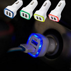 2.1A LED USB Dual 2 Port Adapter Socket Car Charger For All Cell Mobile Phone