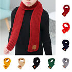 Kids Boys Girls Outdoor Warm Scarf Knitting Wraps Neck Warmer Scarves 110cm