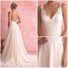 Wedding dress A-Line Beach Wedding Dresses Deep V-Neck Backless Lace Bridal Gown