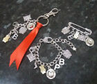 Paddington Bear inspired charm bracelet, keyring, key chain or kilt pin brooch
