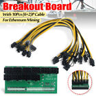 US DPS-1200FB Power Supply Breakout Adapter Board+10 Cable For Ethereum Mining