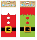 12 Christmas themed Paper Party Gift Loot Food Bags Santa or Elf design