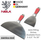 NELA Stainless Steel One Piece Forged Putty Joint Filling Knife Trowel,All Sizes